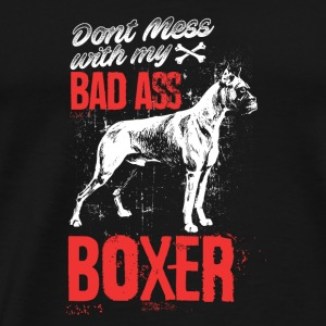 Dog - Don't mess with my bad ass boxer - Men's Premium T-Shirt