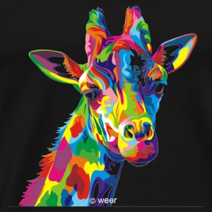 GIFT - COLORFUL GIRAFFE - Men's Premium T-Shirt