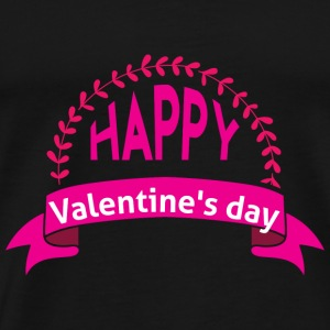 GIFT - HAPPY VALENTINE'S DAY PINK - Men's Premium T-Shirt