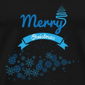 GIFT - MERRY CHRISTMAS BLUE - Men's Premium T-Shirt