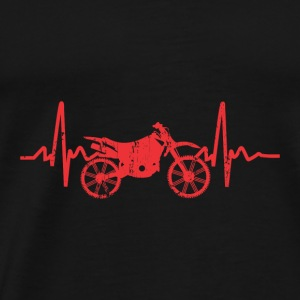 MOTORCYCLE BIKER MOTOCROSS BEAT HEART PULSE BPM - Men's Premium T-Shirt