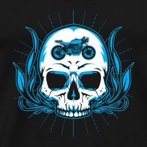 MOTORCYCLE BIKER SKULL FLAMES BONES IN MY HEAD - Men's Premium T-Shirt