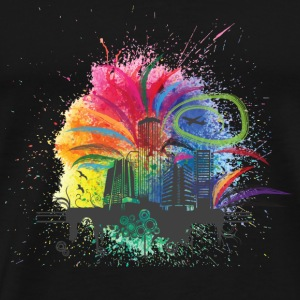 GIFT - COLORFUL BUILDINGS - Men's Premium T-Shirt