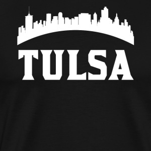 Vintage Style Skyline Of Tulsa OK - Men's Premium T-Shirt