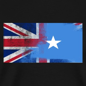 British Somali Half Somalia Half UK Flag - Men's Premium T-Shirt