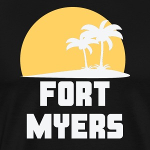 Fort Myers Florida Sunset Palm Trees Beach - Men's Premium T-Shirt