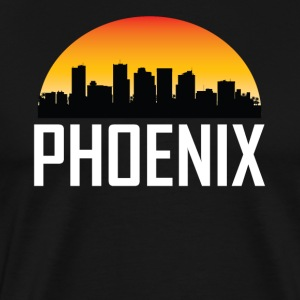 Sunset Skyline Silhouette of Phoenix AZ - Men's Premium T-Shirt
