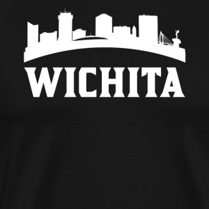 Vintage Style Skyline Of Wichita KS - Men's Premium T-Shirt