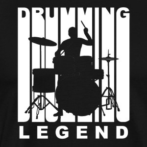 Vintage Style Drumming Legend Retro Drummer - Men's Premium T-Shirt