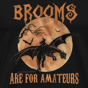 Haloween Brooms Are For Amateurs T shirt - Men's Premium T-Shirt
