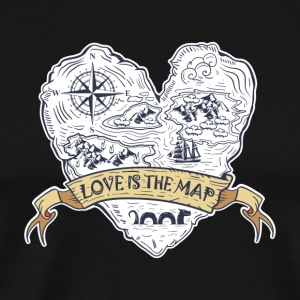 Love is the map - Men's Premium T-Shirt