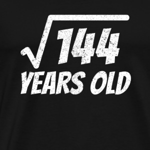 Square Root of 144: 12th Birthday 12 Years Old - Men's Premium T-Shirt