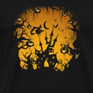 Haloween Scary Castle Witch Pumpkin T shirt Nice G - Men's Premium T-Shirt