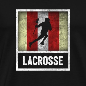 Distressed Design for LACROSSE - Men's Premium T-Shirt
