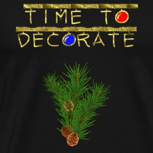 Time To Decorate Gold Garland Ornament Christmas - Men's Premium T-Shirt