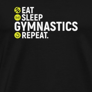 Eat, sleep, gymnastics, repeat - gift - Men's Premium T-Shirt