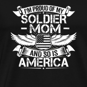 Soldier Mom Support Proud Son Daughter Gift - Men's Premium T-Shirt