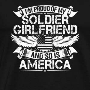 Soldier Girlfriend Support Proud Boyfriend Gift - Men's Premium T-Shirt