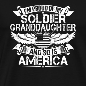 Soldier Granddaughter Support Proud Grandpa Granny - Men's Premium T-Shirt
