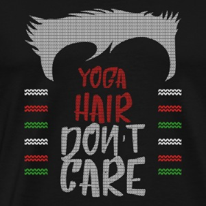 Ugly sweater christmas gift for yoga - Men's Premium T-Shirt
