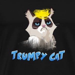 trumpy cat blond hair president humor joke kitty - Men's Premium T-Shirt
