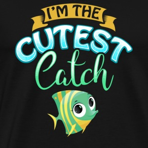 Cutest Catch Fisherman Fishing Wife Present Gift - Men's Premium T-Shirt