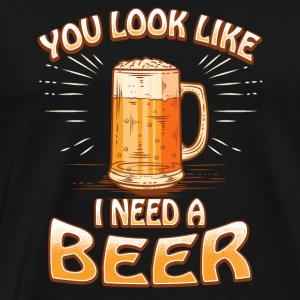 Beer Mug Party Present Gift - Men's Premium T-Shirt