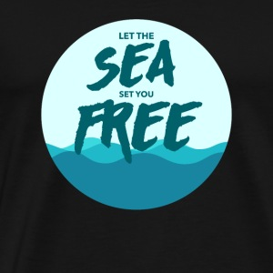 Sea Free Beach Ocean SUP Surfing Gift Present - Men's Premium T-Shirt