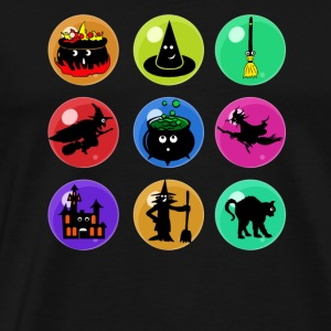 witch emojis for halloween shirt - Men's Premium T-Shirt