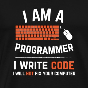 I Am A Programmer I Write Code Computer Keyboard - Men's Premium T-Shirt