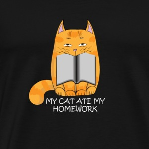 My cat ate my homework - Men's Premium T-Shirt