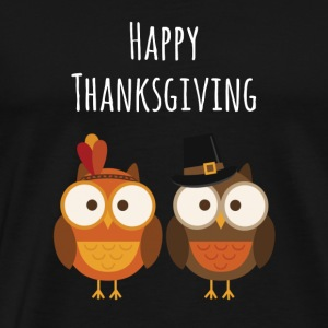 Thanksgiving Cute Owls Holiday Gift Idea - Men's Premium T-Shirt