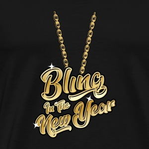 Bling in the New Year Silvester Necklace Gift - Men's Premium T-Shirt