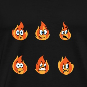 Fire Firefighter Emoticons Gift - Men's Premium T-Shirt