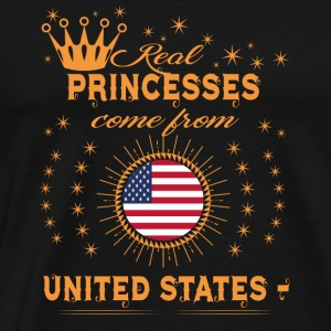 love princesses come from UNITED STATES AMERICA - Men's Premium T-Shirt