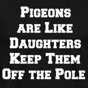 pigeon daughters white - Men's Premium T-Shirt