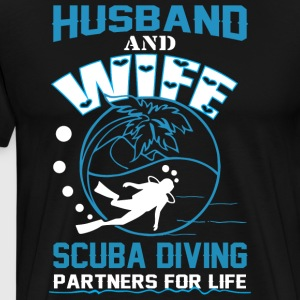 Husband And Wife Scuba Diving T Shirt - Men's Premium T-Shirt