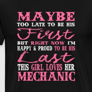 This Girl Loves Her Mechanic T Shirt - Men's Premium T-Shirt