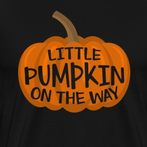 Little Pumpkin On The Way Cute Halloween Pregnancy - Men's Premium T-Shirt