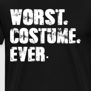 Worst Costume Ever Funny Halloween Costume T-Shirt - Men's Premium T-Shirt