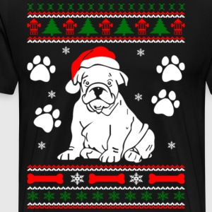 Bulldog Dog Ugly Christmas Sweater Xmas - Men's Premium T-Shirt