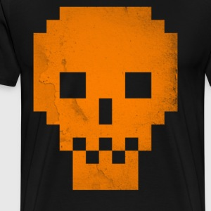 Dead Pixels Orange T shirt Cool Halloween GIft - Men's Premium T-Shirt