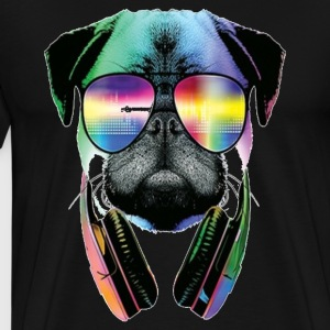 Summer Jammer pug - Men's Premium T-Shirt
