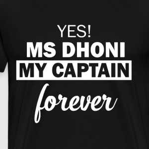 MS Dhoni Captain Forever - Men's Premium T-Shirt