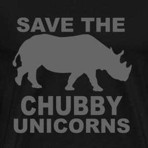 SAVE THE RHINOS! THEY'RE UNICORNS! - Men's Premium T-Shirt
