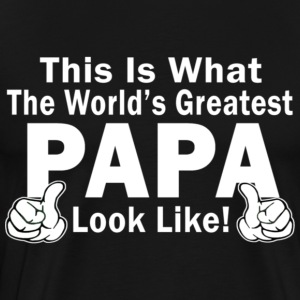 Greatest Papa - Men's Premium T-Shirt