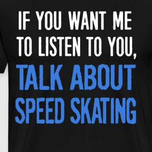 Speed Skating T Shirt - Men's Premium T-Shirt