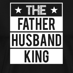 Father - Husband - King - Men's Premium T-Shirt