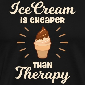 Ice Cream is cheaper than Therapy - Men's Premium T-Shirt