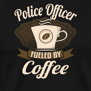Police Officer Fueled By Coffee - Men's Premium T-Shirt